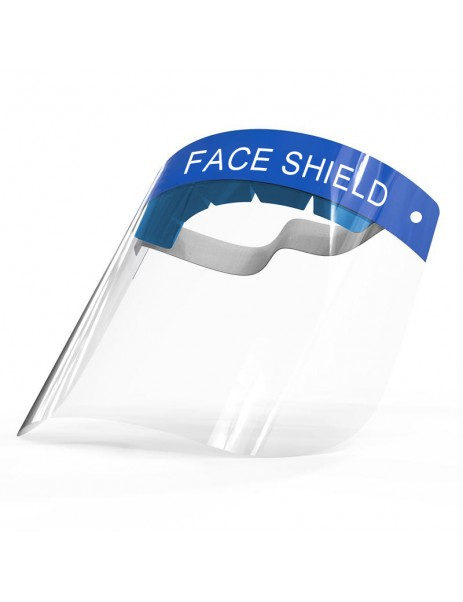 Disposable Face Shield Transparent Full Face Cover Shield Visor Protective Head-Mounted Splash Protector Anti-Bacteria
