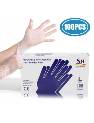 100pcs Disposable PVC Gloves, Food Prep Gloves, Work Gloves for Cooking, Cleaning, Food Handling