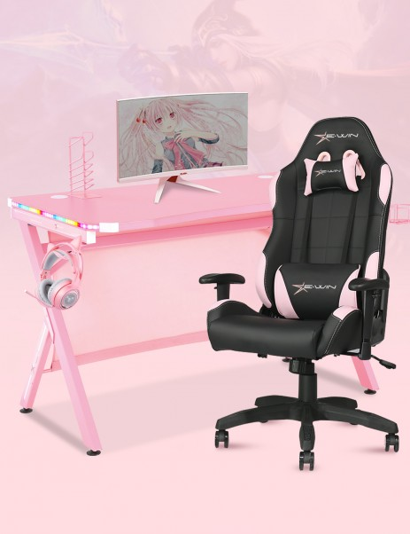 E-WIN 2.0 Pink Gaming Setup