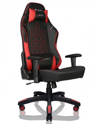 EWin Knight Series Ergonomic Computer Gaming Office Chair with Pillows - KTD