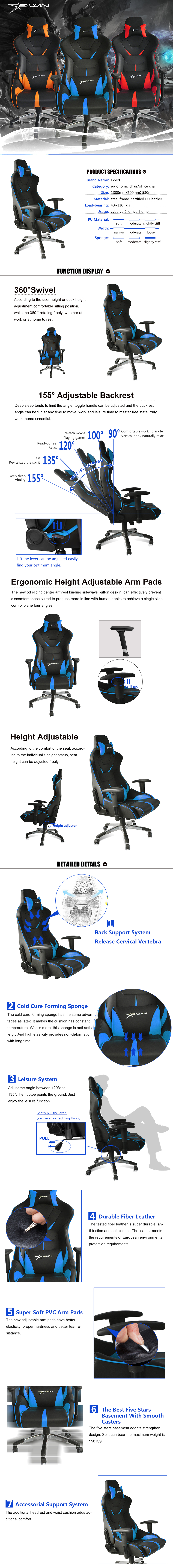 EwinRacing Flash XL series gaming chairs
