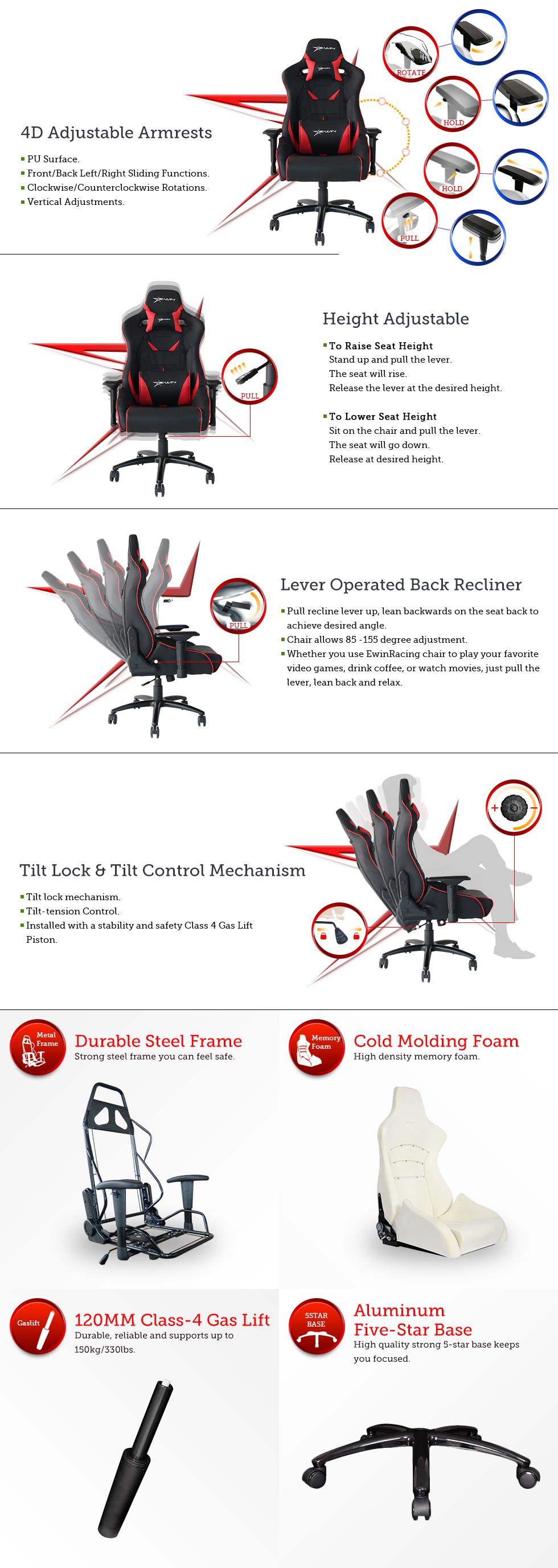 EwinRaicng Flash XL series gaming chair