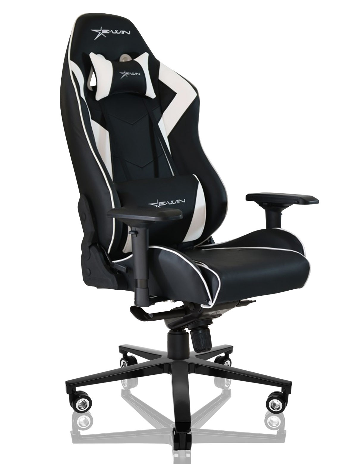 style executive racing black products modern office ergonomic chair swivel white gaming homcom computer chairs